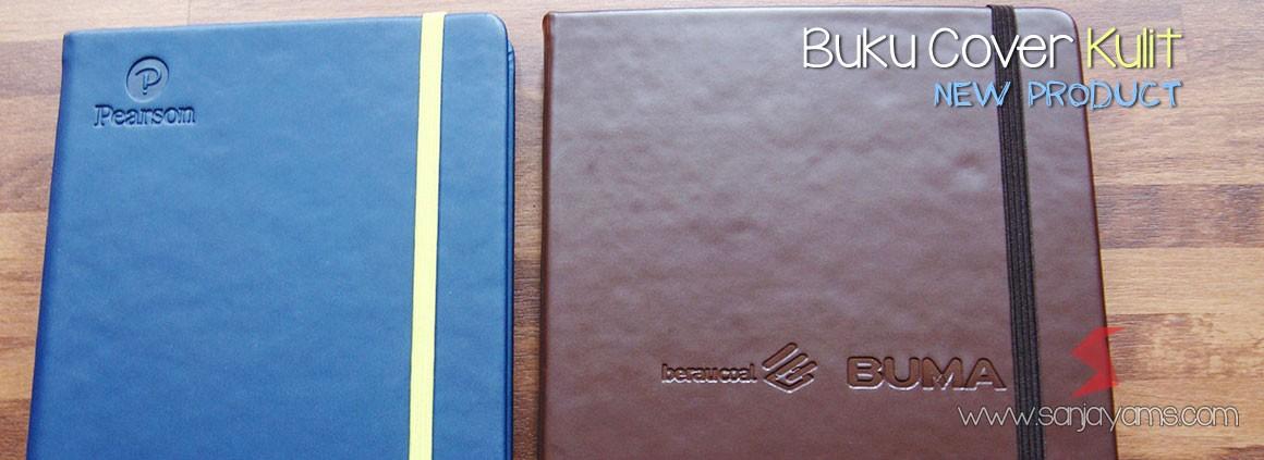 Souvenir buku terbaru, dengan cover dibungkus material kulit sintetis