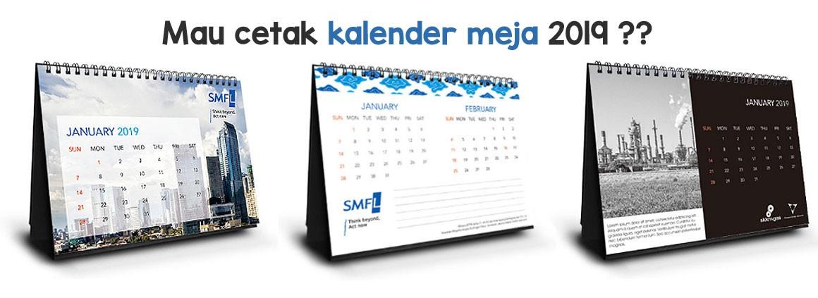 Cetak Kalender Meja 2019
