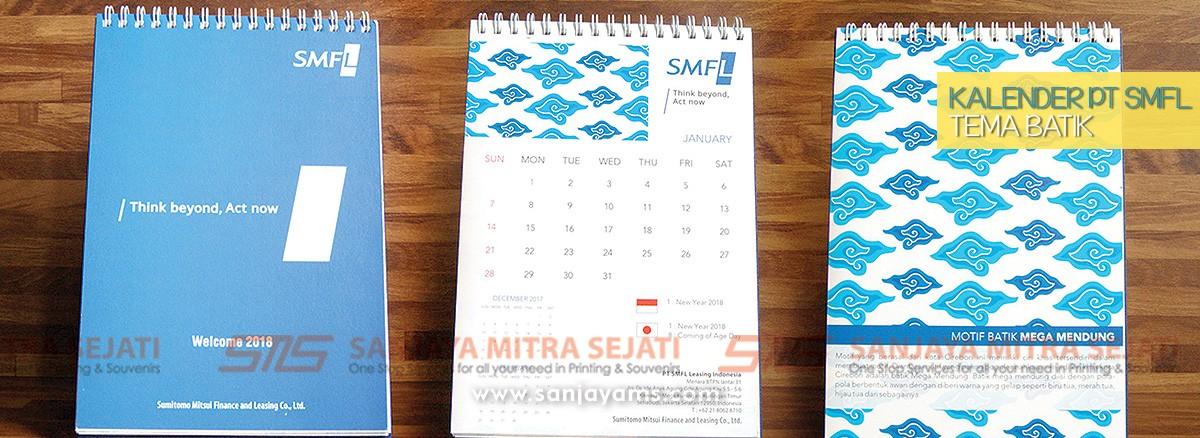 Cetak Kalender Motif Batik, Percetakan Jakarta