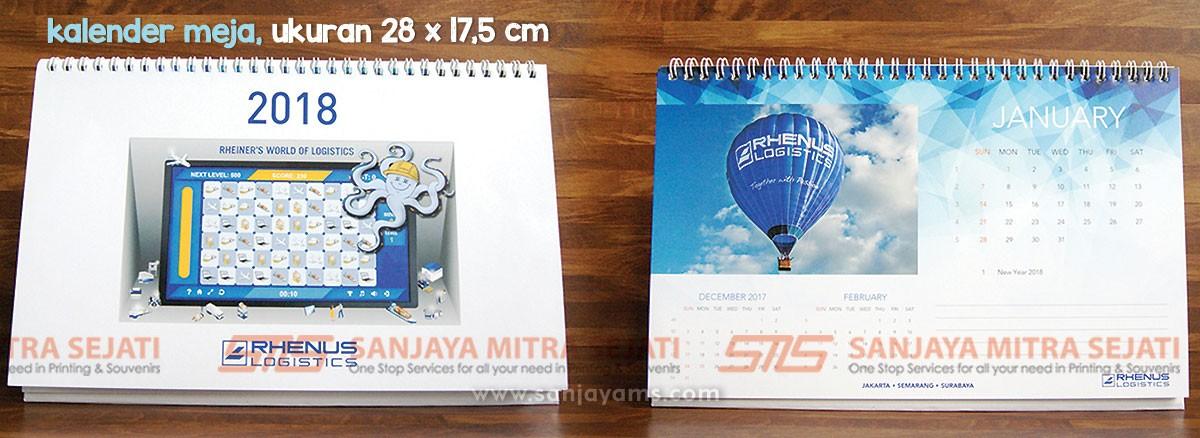 Kalender Meja PT Rhenus, Percetakan Sanjaya