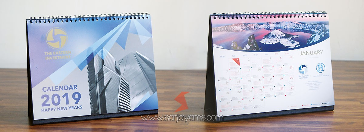 Kalender Meja 2019 PT The Eastern Investment