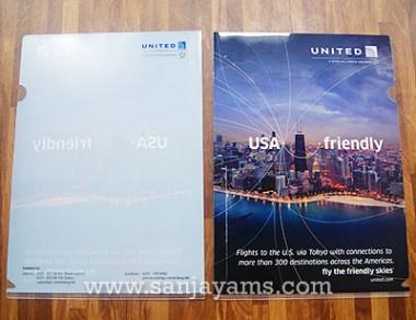 Map plastik United dengan bagian belakang transparant