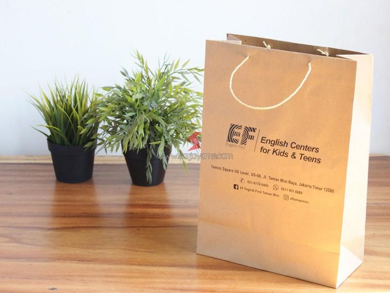 Cetak Paperbag Promosi,  Paperbag EF Taman Mini