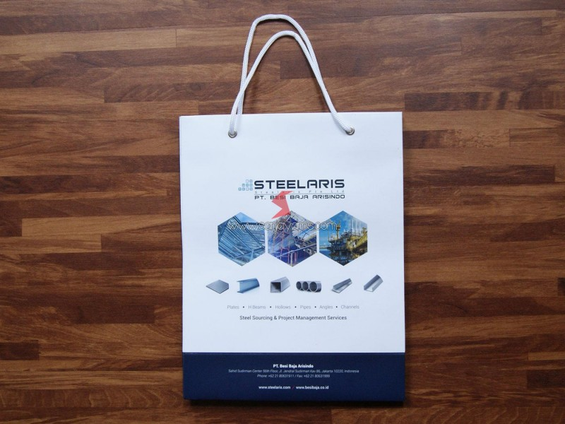 Cetak Paperbag Promosi,  Paperbag Pt Besi Baja Prisindo