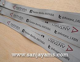 Lanyard Nylon Silver