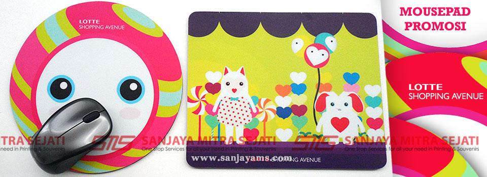 buat souvenir mousepad untuk grand opening lotte shopping avenue