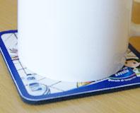 Buat Tatakan Gelas, Promosi Coaster, Bahan Rubber & Spons, Produksi Coaster, Promosi rumah makan dan restaurant.