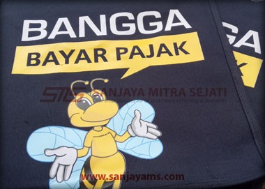 Detail sablonan logo pajak
