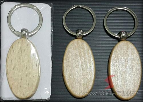 Gantungan Kunci Kayu Oval