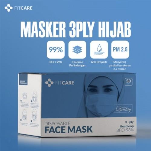Masker Headloop, Masker Hijab, Masker 3ply, Masker Fitcare, Masker Anti Virus, Masker Sekali Pakai,