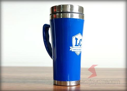 Mug Stainelss Promosi, Mug New Caring