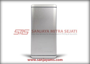 Powerbank warna silver