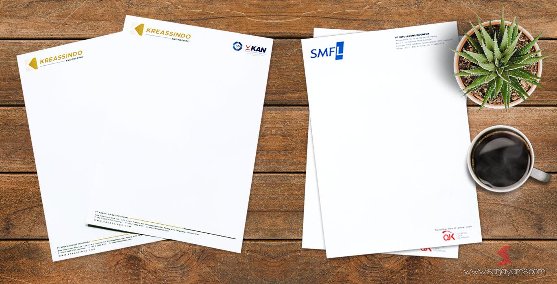 Cetak kop surat perusahaan