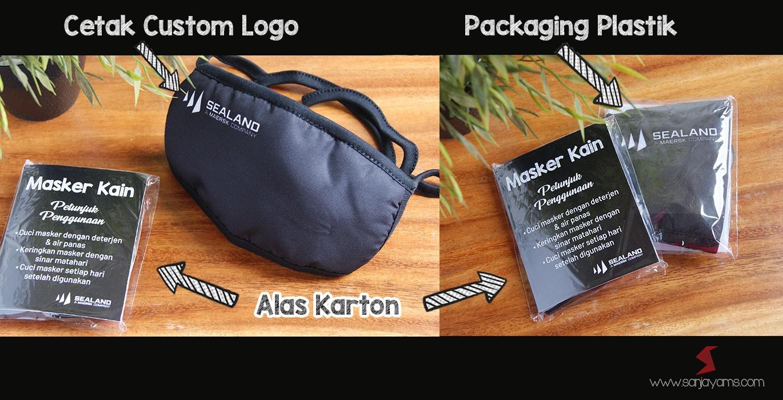 Produksi Masker Kain Bahan Premium