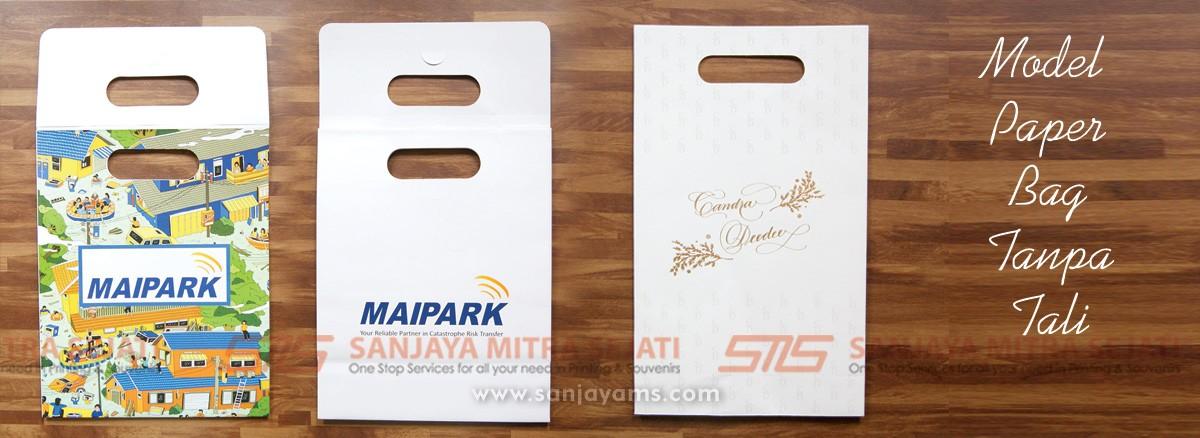 Model paper bag tanpa tali, souvenir wedding