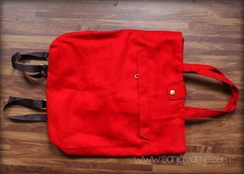 Tas ransel merah