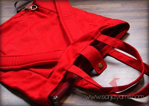 Tas ransel warna merah