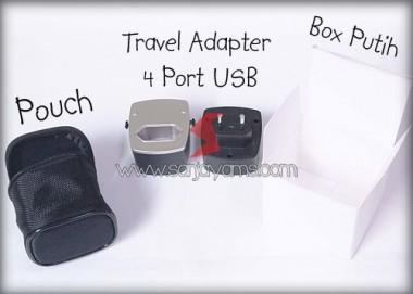Travel Adaptor 4 Port USB (MT06)