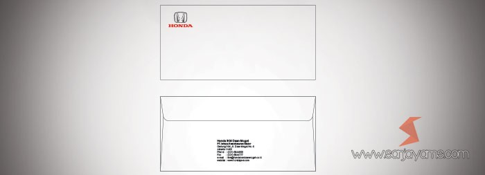 Amplop Honda